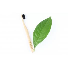 Бамбукова четка за зъби  с въглен 100% Био разградима Nordiks