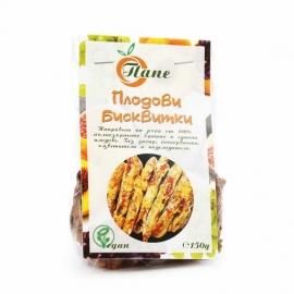 Плодови бисквитки от лимец със 70% сушени плодове /веган/ 150гр Доби