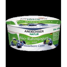 Био сметанов йогурт боровинка и касис 10% 150гр Andechser