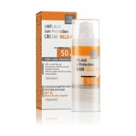 Противостареещ слънцезащитен крем за лице SPF 50